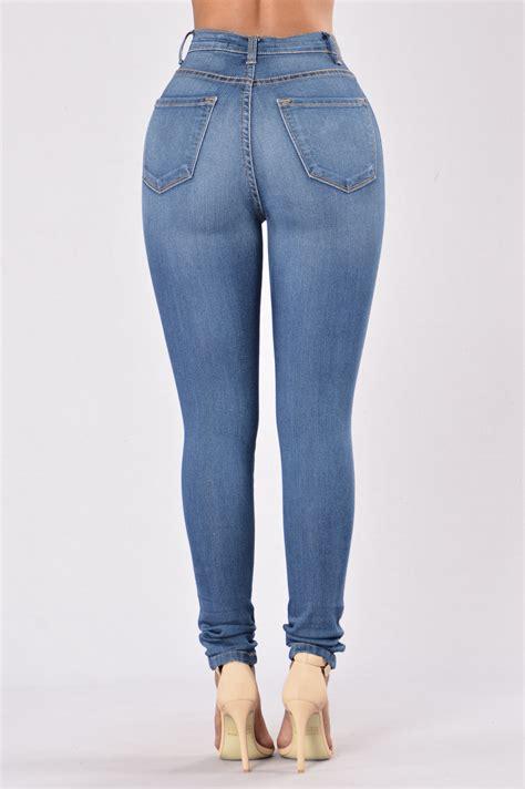 Fashion Fend Size Medium classic high waist medium blue