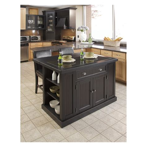 nantucket kitchen island home styles nantucket kitchen island with two stools