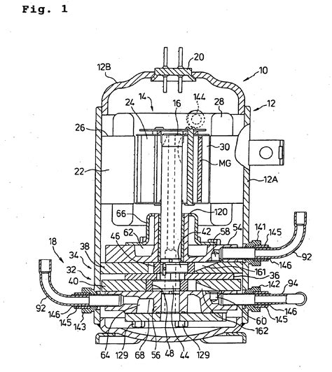 patent epb compressor  hermetically sealed