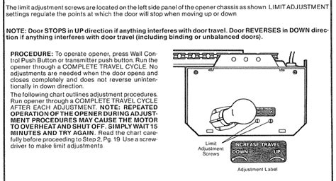 Craftsman Garage Door Opener Model 139 18086 I Changed Craftsman Garage Door Opener Adjustments