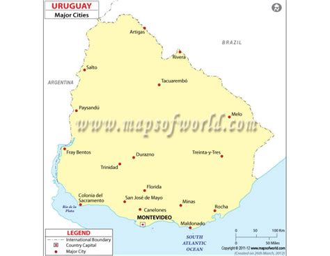 map of uruguay with cities buy map of uruguay with cities