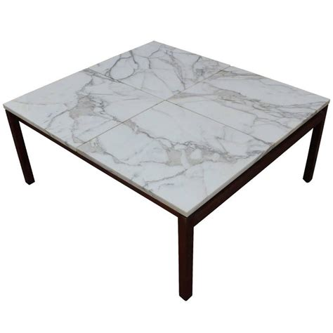 Modern Marble Square Knoll Lewis Butler Coffee Table With Lewis Coffee Tables Sale