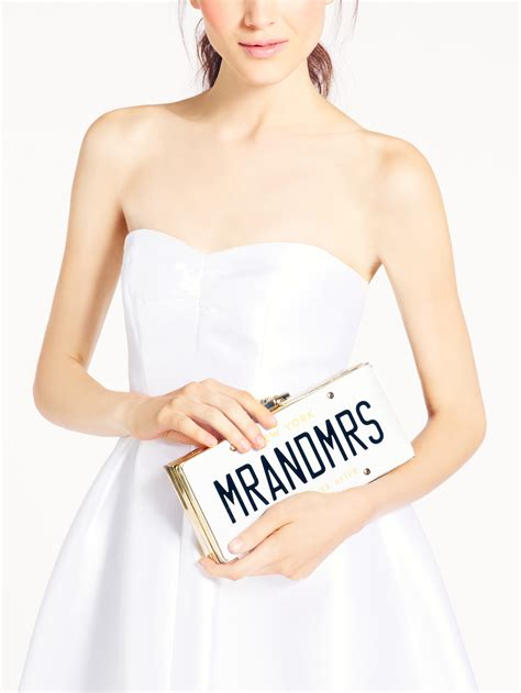 Wedding Belles License Plate Clutch by Kate Spade New York Wedding Belles License Plate Clutch Lyst