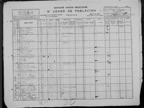 Mexican Records Mexico 1930 Census Records Mixed Ancestry