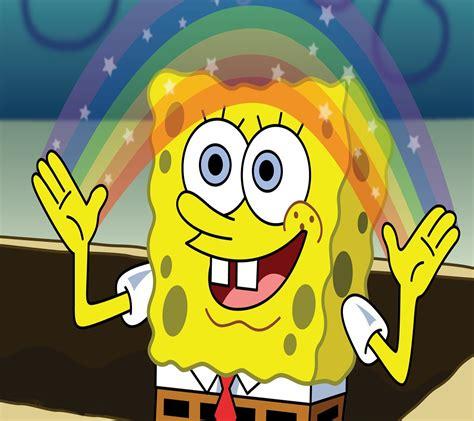 wallpaper android spongebob download spongebob rainbow fun time 1440 x 1280 wallpapers