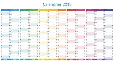 Calendrier Scolaire 2016 Tunisie Calendrier 2016 Simple