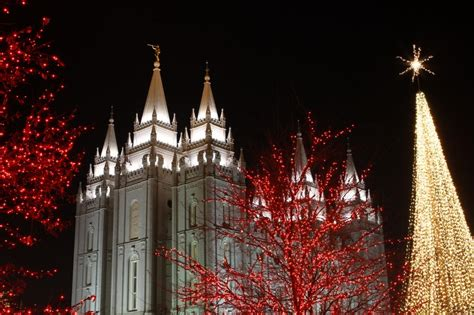 panoramio photo of temple square christmas lights