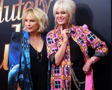 joanne lumley french twist absolutely fabulous premiere brings joanna lumley