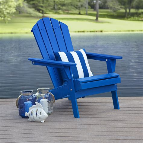 Blue Adirondack Chair by Garden Oasis Adirondack Chair Blue Outdoor Living