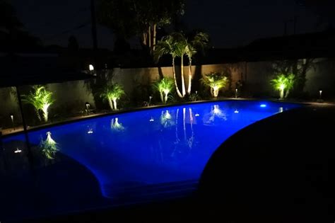Backyard Pool Lighting Landscape Lighting Cabling Controls Alan Smith Pools