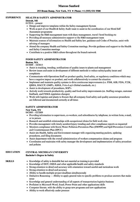 Occupational Health And Safety Specialist Sle Resume by Safety And Occupational Health Specialist Sle Resume Resume Sle Free