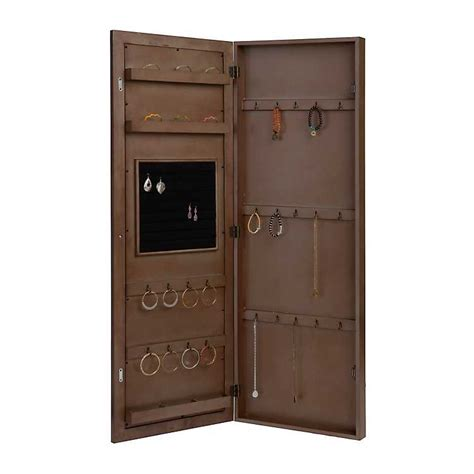 wall jewelry armoire clearance mirrored tile wall mounted jewelry armoire kirklands