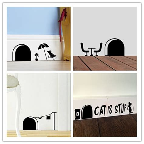 wall stickers for the home 3d mouse wall stickers for rooms