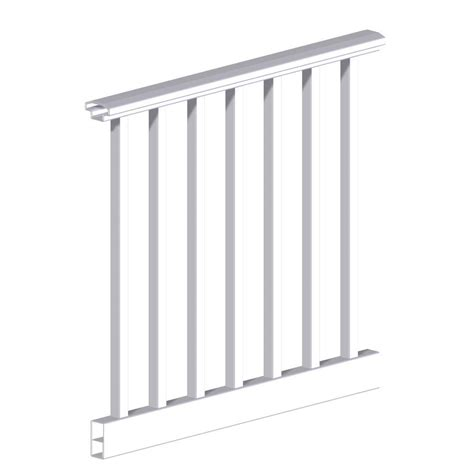 rdi original rail 6 ft x 36 in white vinyl square