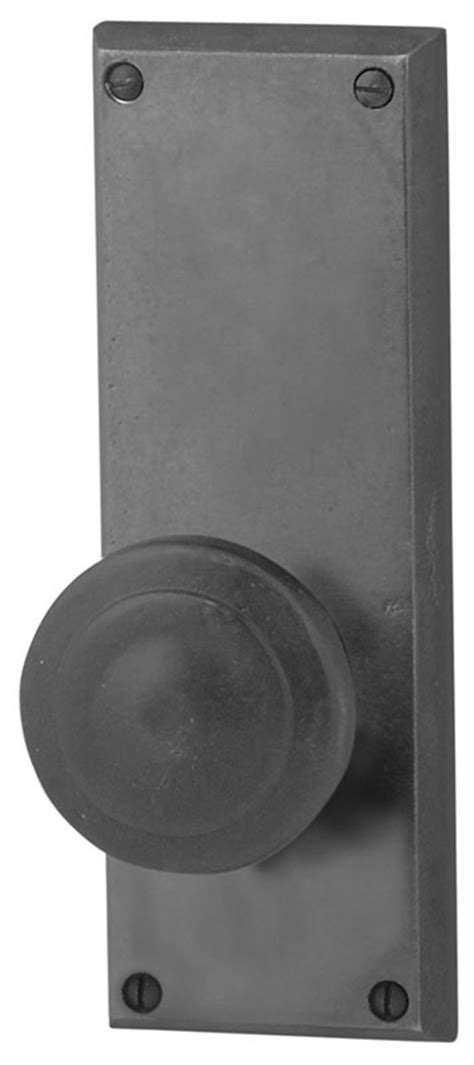 Door Knob Repair Plate by Emtek Rectangular 7 Quot Sandcast Bronze Door Handle Plate