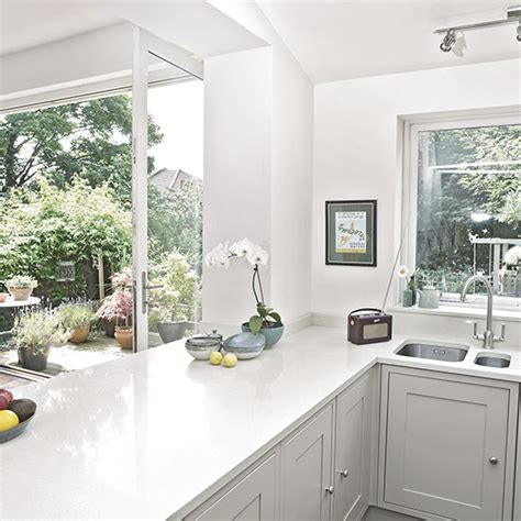 white shaker kitchen cabinets click below for larger white shaker style kitchen decorating ideal home