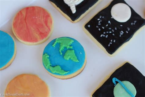 Planet Cookies space themed birthday food cook clean craft