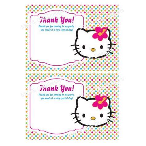 printable birthday cards hello kitty printable hello kitty birthday thank you cards