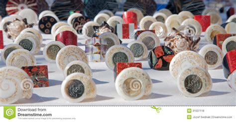 Handmade Souvenirs - palermo handmade souvenirs from mussels royalty free