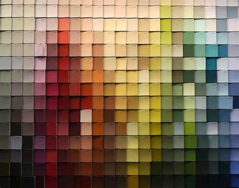 Paint Chips | paint chip wall art diy coulda shoulda woulda pinterest