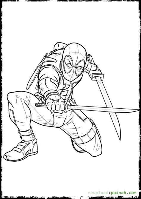 printable version of html page 88 deadpool coloring pages click to see printable