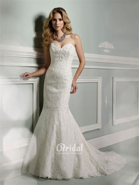 Strapless Wedding Dresses Classical And Chic Strapless Vintage Lace Wedding Dresses