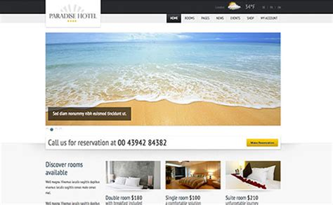 theme viva hotel 20 amazing hotel and resort website themes