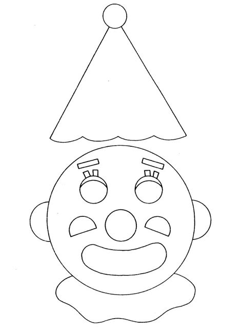 clown faces coloring pages az coloring pages