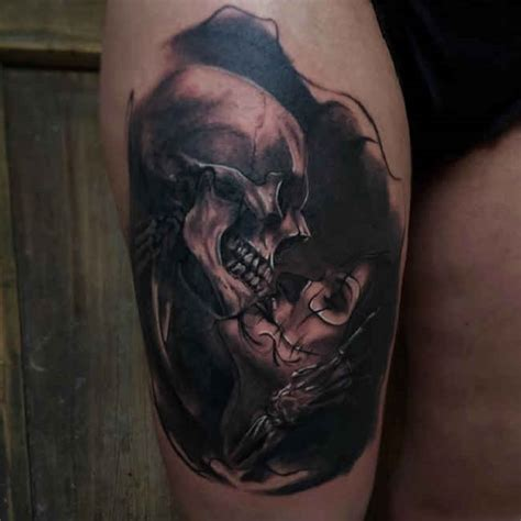 kiss tattoos designs ideas and meaning tattoos for you tattoo woman kissing a skull ideas tattoo designs