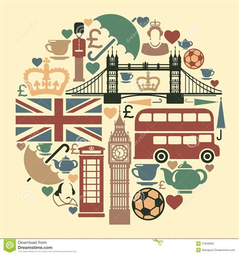 icons of england icons on a theme of england royalty free stock images image 37848359