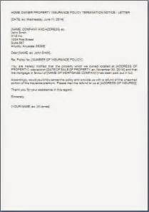 Cancellation Letter For Car Insurance Every Bit Of Life House Insurance Cancellation Letter