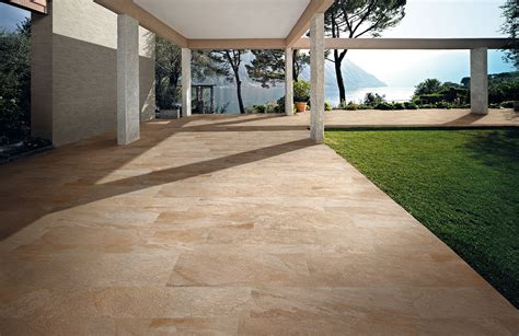 backyard floor tiles sienna anthology stone gold outdoor 12x24 porcelain tile