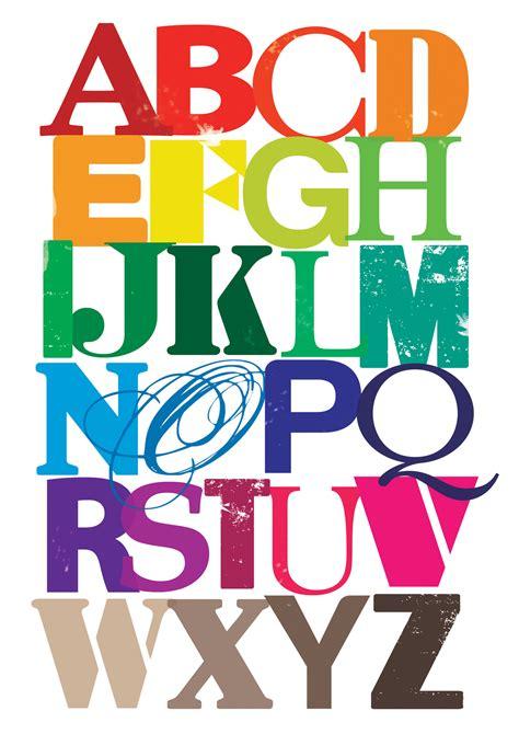 Abc Felt colourful alphabet print felt