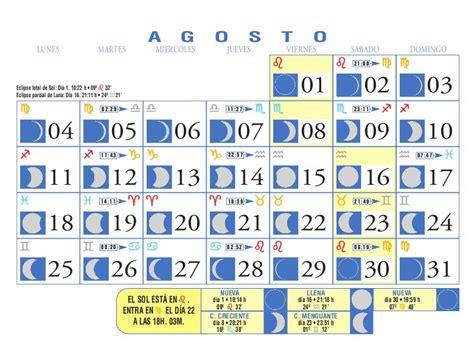 Calendario Agosto 2008 Calendario Lunar Agosto De 2008