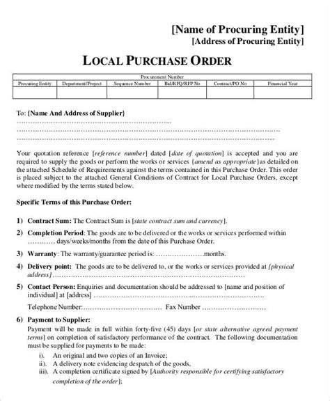 15 purchase order templates free premium templates