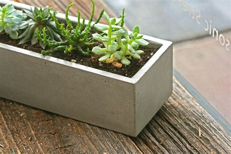 Rectangular Concrete Planter by Rustic Modern Rectangular Concrete Box Planter By Atstuart
