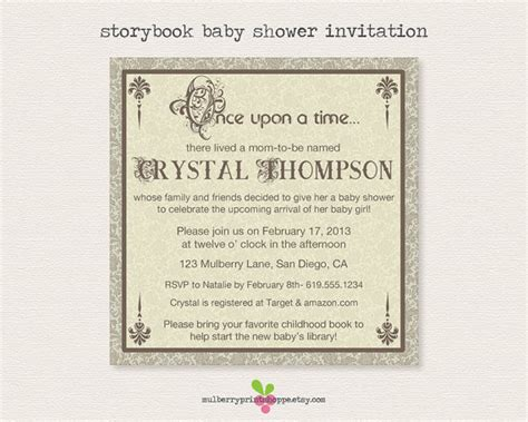 Storybook Baby Shower Invitations by Storybook Baby Shower Invitation