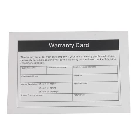 Guarantee Card Template by Warranty Card Pictures To Pin On Pinsdaddy