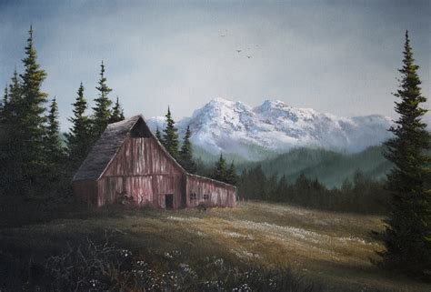 acrylic painting kevin quot the lonely barn quot by kevin hill paintwithkevin kevin