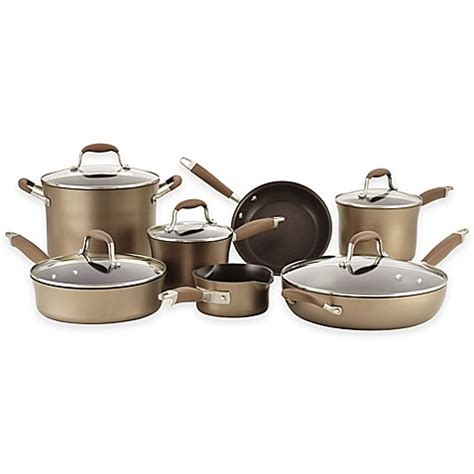 bed bath and beyond pots buy anolon 174 advanced bronze hard anodized nonstick 12