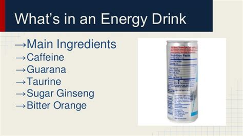 6 energy drink ingredients drink ingredients