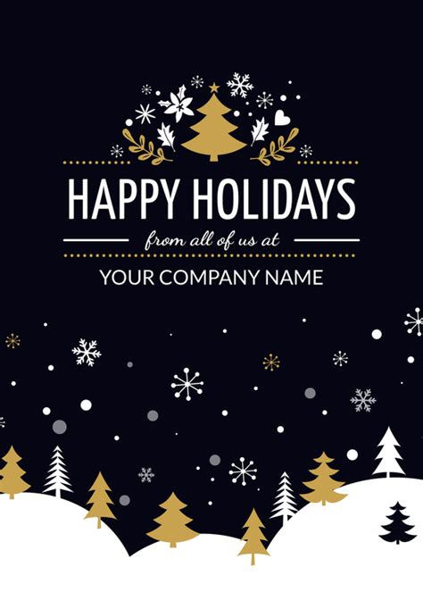 Happy Holidays From Company Card Template by Business Cards Corporate Greeting Cards