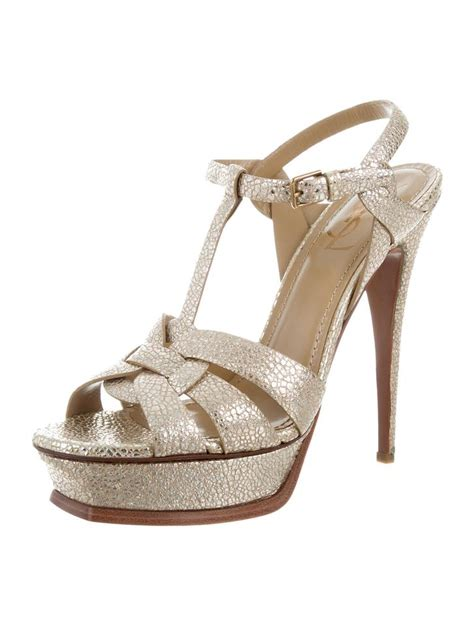 Yves Laurent Tribute Pumps Could They Be Any Hotter by Laurent Gold Tribute New Ysl Platform Metallic Heel