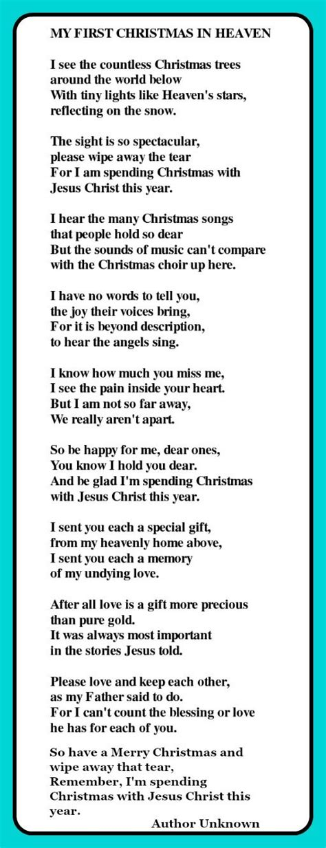 christmas  heaven poem           heaven heaven
