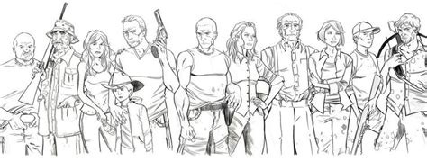 Walking Dead Coloring Book Pages