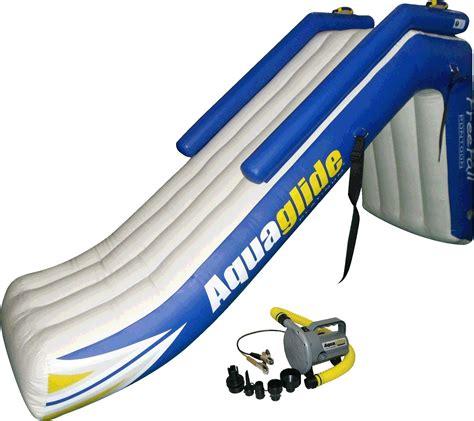 aquaglide pontoon slide aquaglide freefall pontoon slide
