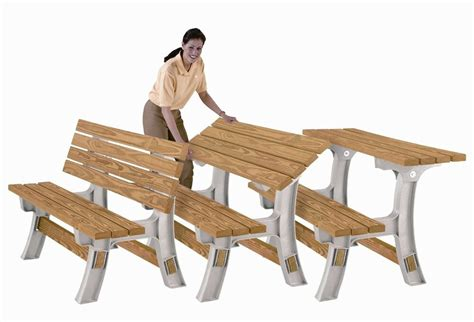 bench picnic table convertible flip top patio outdoor