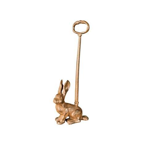 cast iron rabbit door stop with handle from lilyben uk