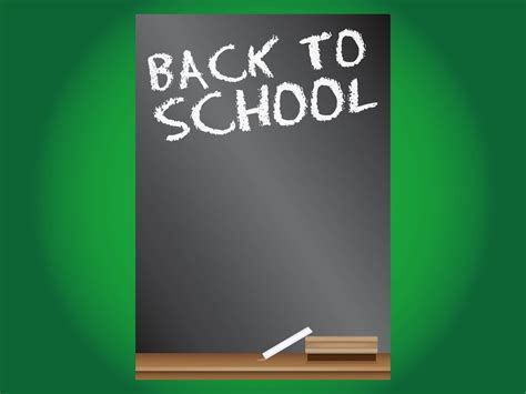 Back To School Poster Vector Art Graphics Freevector Com Back To School Brochure Template Free