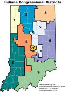 districts map boundary maps stats indiana